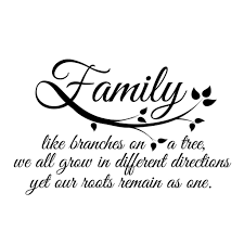 small family quote in black inspirational