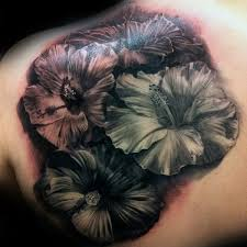 realistic hibiscus tattoos pictures to pin on pinterest tattooskid