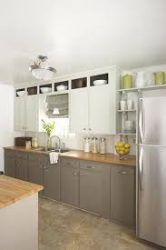 top cabinets different color than bottom i greige cabinets budget kitchen remodel kitchen