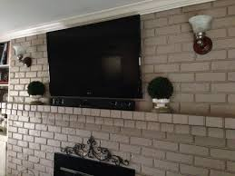wall mounted tv hiding cables yes you can mount your tv to your brick fireplace without the