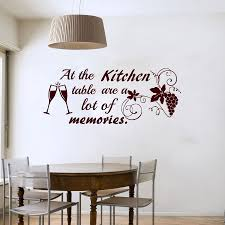 compare prices on vinyl for kitchen wall online shopping buy low dctop at the kitchen table are a lot of memories wine glasses grape wall sticker quote