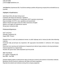 truck driver resume sample publix truck driver resume sales within