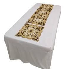 H And M Home Decor by 3xbeige Net Table Cover Hand Beaded Mat Home Decor Sequins Runner