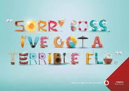 Print Advertisement Idea Design Vodafone Boss