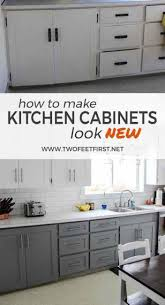 How To Make Cabinets Look New How To Update Kitchen Cabinets Without Replacing Them Twofeetfirst