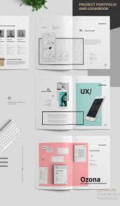 graphic design portfolio book layout psd template free download
