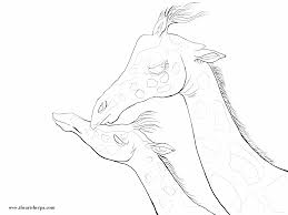 traceable for the mother and baby giraffe coloring page thank you