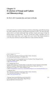 evolution of fungi and update on ethnomycology springer