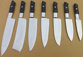 made kitchen knives custom made kitchen knives set with stand customknives0065 on