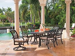 Patio Dining Chair Telescope Casual Ocala Cast Aluminum Metal Arm Stackable Patio