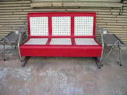 Motel Chairs Bench Outdoor Glider Bench Metal Outdoor Glider Bench Metal
