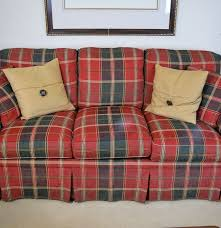 Tartan Chesterfield Sofa by Red And Green Plaid Sofa Ebth