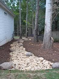 dry creekbed for runoff and erosion control tennessee garden