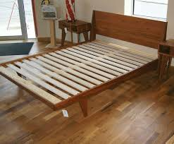 wood platform bed frame diy frame decorations