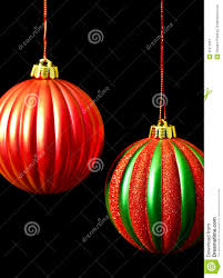 red and green christmas ornaments on black stock image image
