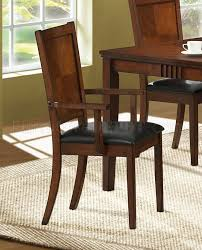 Dining Room Chairs Cherry Cherry Finish Transitional Dining Room