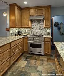 tile floors kitchen pine cabinets downdraft ranges electric