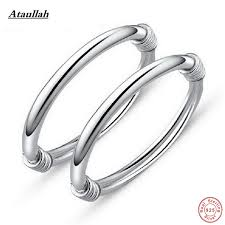 silver fine bracelet images Ataullah 2pieces baby bangles children 925 sterling silver jpg