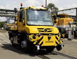 mercedes unimog truck mercedes unimog road railer goes from truck to diesel locomotive