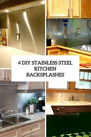 Backsplash Kitchen Diy 4 Functional Diy Stainless Steel Kitchen Backsplashes Shelterness
