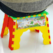 aliexpress com buy plastic foldable step stool chair camping