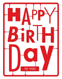 happy birthday card typography letters type font kit stock
