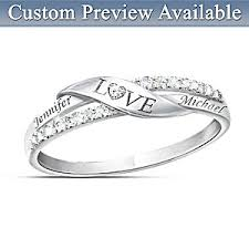 engraving engagement ring personalized name engraved diamond ring