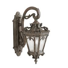 kichler outdoor lighting fixtures kichler 9357ld two light outdoor wall mount wall porch lights