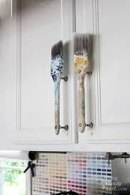 can cabinet handles be painted paintbrush cabinet door handles craft room cabinet