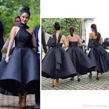 elegant black 2017 arabic short bridesmaid dresses one shoulder
