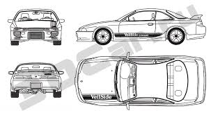 nissan silvia drawing чертеж nissan silvia s14 3dcar ru 3d модели автомобилей