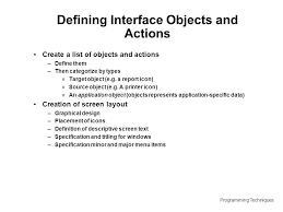 layout techniques definition programming techniques lecture 11 user interface design based on