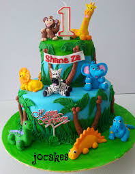 dinosaurs cakes jungle animal cake for shane ze jocakes