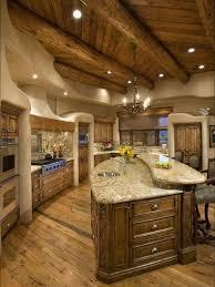 Cabin Kitchen Ideas Log Cabin Kitchen Raised Bar Island Log Cabin Kitchen Ideas