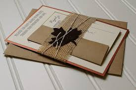 autumn wedding invitations rustic autumn wedding invitations copper brown and burlap