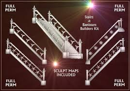 Banister Kit Second Life Marketplace Bargain Builders Stairs And Banister Kit
