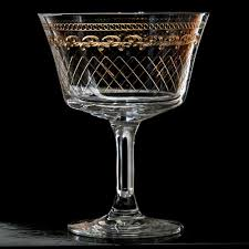vintage martini glasses retro fizz 1910 gold cocktail glass click to shop vintage stemware