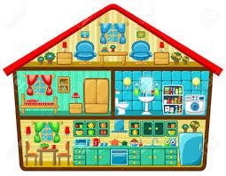 kitchen layout clipart