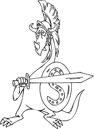 dragon gladiator coloring free printable coloring pages