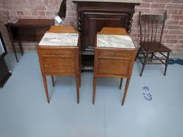 marble top bedside table a pair of satinwood french marble top bedside cabinets pegasus