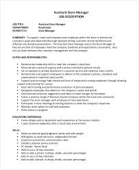 Sales Supervisor Job Description Resume by Retail Job Description Retail Job Description Resume Resume