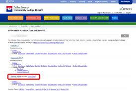 winter term credit class schedules richland college