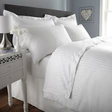 White Stripe Duvet Cover 300 Tc Duvet Cover Single Size Premium Cotton Striped Duvet