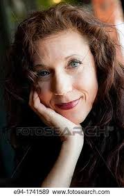 hairstyles suitable for 42 year old woman stock photograph of portrait of a 42 year old woman with long