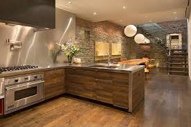 Kitchens With Stainless Steel Backsplash Contemporary Kitchen With Stainless Steel Backsplash L Shaped