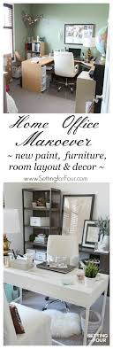 my home furniture and decor home office makeover before and after setting for four