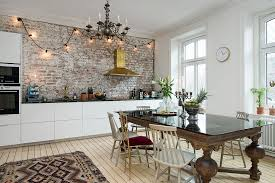 kitchens with brick walls kitchens eat in kitchens naked brick wall kitchen with a golden
