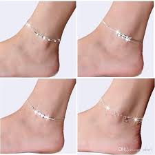 2018 fashion 925 sterling silver anklets for