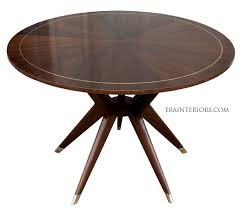 mid century round dining table mid century round dining table era interiors