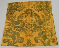 Cotton Drapery Panels Pair Of Fortuny Block Printed Cotton Drapery Panels Sale Number